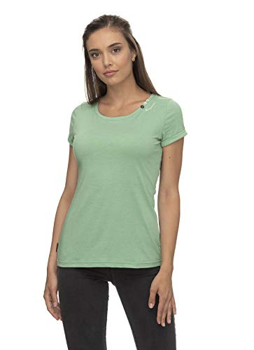 Ragwear FLORAH A Organic Damen,T-Shirt,Shirt,Oberteil,Kurze Ärmel,vegan,Rundhalsausschnitt,Green,S