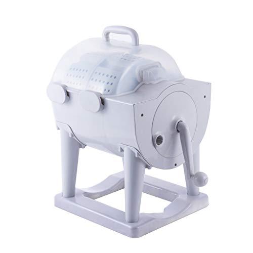 Mini Lavatrice A Manovella Portatile, Rondella di Plastica da Banco per Campeggio, Lavabiancheria Eco Non Elettrica A Vasca Singola in Dormitorio 38 * 34 * 60 CM