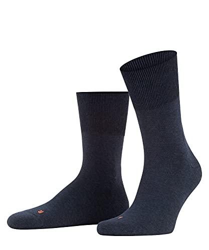 FALKE Unisex Run U SO Socken, Blickdicht, Blau (Navy Blue Melange 6490), 44-45