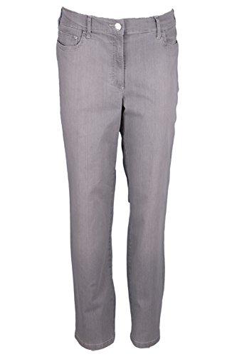 Zerres Damen Jeans Greta Regular Fit Silber (12) 48