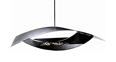 MODERN Hanging BIRD FEEDER and BIRD HAUSE by DANISH DESIGNER Black Powder Coated Steel - Modern Art for Your Garden - EASY FILL- EASY HANG -SQUIRREL RESISTANT -CORROSION PROOF from GARDENLIFE