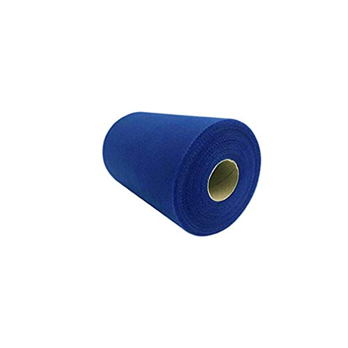 Fabric Tulle Ribbon Rolls Spool 100 Yards × 6 Inch Table Skirt Wedding Party Gift Bow Craft Sapphire