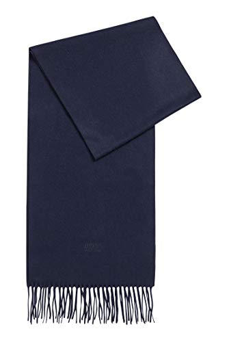 BOSS Mens T-Scottas 02 Scarf with fringed trim in Italian cashmere