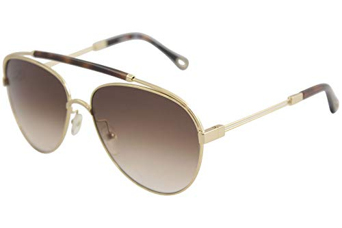 Chloè Damen Ce141S 757 59 Sonnenbrille, Gold (Gold/Havana)