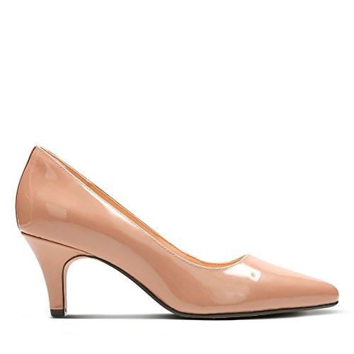 Clarks Isidora Faye, Zapatos de Tacón para Mujer, Beige (Nude Patent -), 40 EU