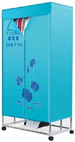 JYDSG Tragbarer hochwertiger Wäschetrockner, blau, Faltbarer (Anion) Elektro-Airbag ohne Windschutz, Heizung, Schnelltrocknend, 1000 W, 33 lb