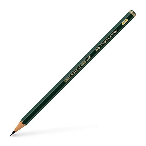Bleistift FABER- CASTELL® 9000 8B, Schaftfarbe: dunkelgrün