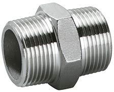 A4 - AISI316 Edelstahl - Sechskant -Doppelnippel mit Zoll = AG in Industriequaltät (AG 3/8