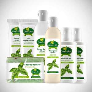 Collection ligne Cosmetica à la menthe 7 Produits anti-cellulite Rafraîchissant Défatiguant énergisant Certifié Bio Eco Cosmesi AIAB
