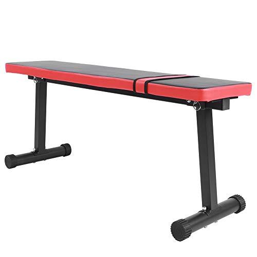 Banco de musculación, taburete de asiento, aparato de entrenamiento de los músculos abdominales, fuerza completa en el hogar, banco plano de fitness, halterofilia, 33 x 47 x 114 cm