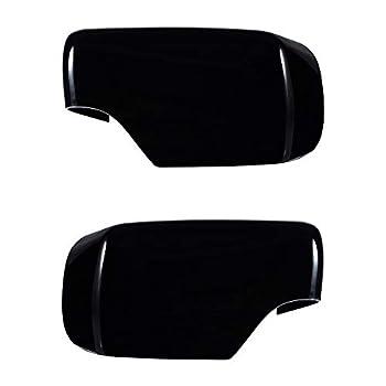 Left&Right Side Door Rearview Mirror Cover Cap For E46 323i 325i 328i 330i 525i 528i 530i 540i 1998-2005