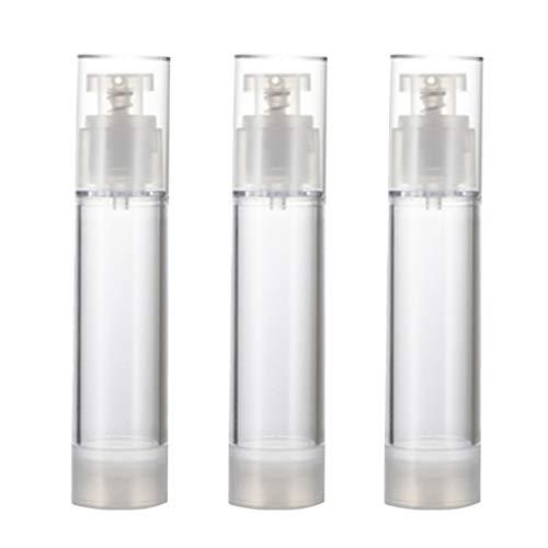 TOPBATHY 6 Pcs Vide Airless Lotion Crème Pompe Récipient en Plastique Cosmétique Distributeur de Bouteilles Voyage Lotion Conteneur (50 Ml)