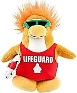 "SAVE $7.00 - VALUE DEAL on RARE Club Penguin Lifeguard 6.5"" Plush - VALUE DEAL = Just the Rare Plush without Coin or Code"