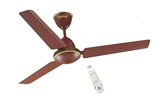 Jupiter Tricopter Matt Brown 3 Blades BLDC Motor 1200 mm 5 Star Energy Saver Ceiling Fan with Remote Controlled