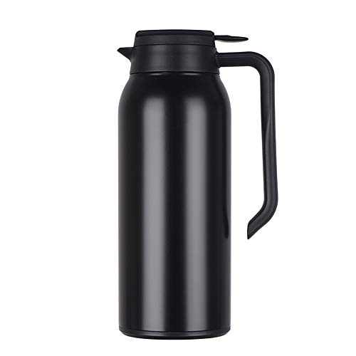 Koffie Thermos Food-grade 316 RVS thermoskan - Insulated Vacuum Thermal - Koffie- Isolatie Pot Water Pitcher Met dekselgreep 1.5L Koffie Thee Sap (Color : Black, Size : 1.5L)