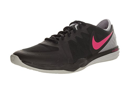 Nike Dual Fusion TR 3 Womens Running Trainers 704940 Sneakers Shoes (US 6, Black Pink Power Wolf Grey 007)