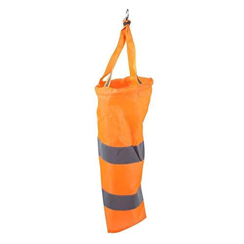 Eastbuy Flughafen-Windsäcke - 40 cm Outdoor-Sport-Windsack Nylon Flughafen-Windsack Rip-Stop-Outdoor-Windmessung Sockentasche mit reflektierendem Gürtel (Orange)