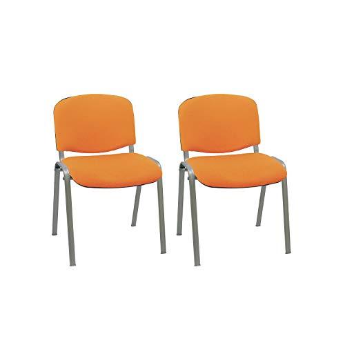 Centrosilla Silla confidente ISO apilable Confortable Acolchado más Grueso Ideal para Salas Espera,