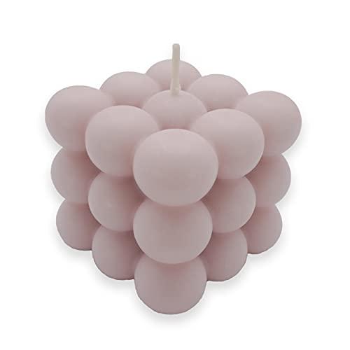 Bubble Candle   nachhaltige Kerze aus Rapswachs   Handmade in Germany   100% vegan   candlery. - die Kerzenmanufaktur aus Münster (Altrosa)