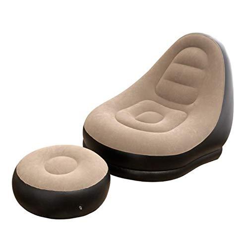 ZYSTMCQZ Sofá Perezoso Inflable de PVC, Bolso de Frijoles Sofá de cojín para sillón, sofá Cama de Tatami sofá Cama un Gran tamaño Tanto para niños como para Adulto