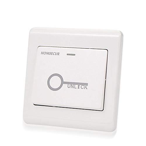 NN99 Botón de salida de la puerta Botón pulsador Interruptor Botón Liberación impermeable para salir de DC12V para el sistema de seguridad de control de acceso Todas las cerraduras electrónicas (SK4)