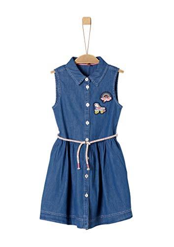 s.Oliver Mädchen 53.903.82.5793 Kleid, Blau (Blue Denim Non Stretch 55y2), 110 (Herstellergröße: 110/REG)