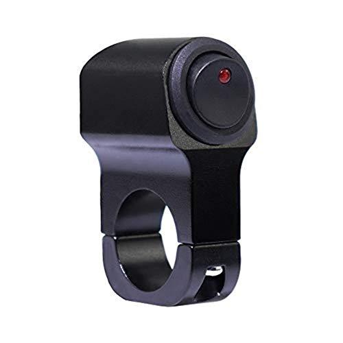 U/D LCZCZL 12V de la Motocicleta del CNC del Eje de balancín Interruptores de 22 mm (7/8 Pulgadas) del Manillar de la Linterna Interruptor ON/Off 16A con el indicador (Color : B)