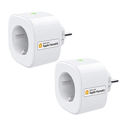 Enchufe Inteligente Wi-Fi 16A 3680W, con Control Remoto Meross app, Compatible con HomeKit Siri, Alexa, Google Assistant y SmartThings, Wi-Fi Smart Plug, Modelo MSS210HK. Paquete de 2.