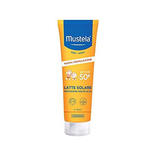 Mustela Latte Solare SPF50+ Protezione Molto Alta per Bambini, 250ml