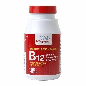 Walgreens Timed Release B-12 2000 Mcg Tablets 180 ea