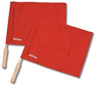 Tandem Sport Red Linesman Solid Flag with Wooden Handle (Set of 2)