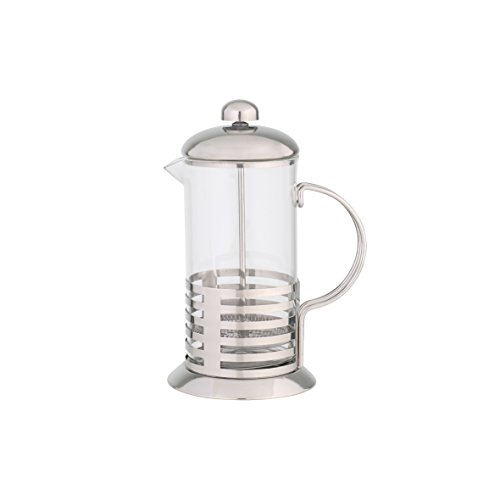axentia Kaffee- und Teezubereiter, Edelstahl Kaffeemaschine, 1 liter Fassungsvermögen, volles Aroma, Pressfilterkanne, sofort genießen, Kaffeepresse mit temperaturbeständigem Borosilikatglas, French Press, Barista