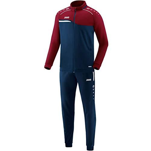JAKO Herren Trainingsanzug Polyester Competition 2.0, marine/dunkelrot, XL, M9118