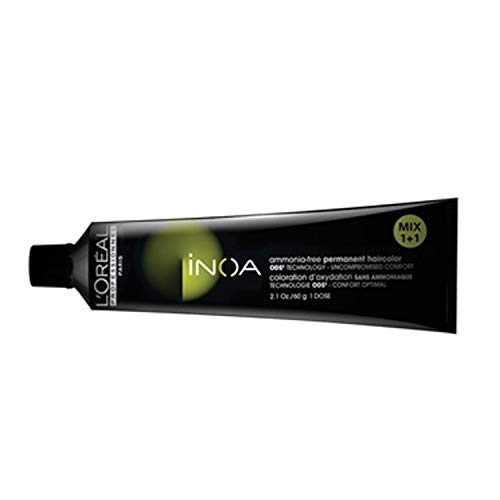 L'Oréal Professionnel Inoa - Oxidative Coloration Ohne Ammoniak 4.56 Mittelbraun Mahagoni Rot High Resist, 1er Pack (1 x 60 ml)