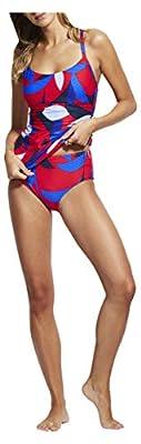 Seafolly Women's DD Cup Tankini Swimsuit Top, Aloha Chilli, 14 US