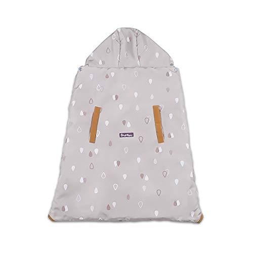 SONARIN Universal All Seasons Regenhaube für Babytrage, Regenschutz,Windschutz,Wasserdichtes,abnehmbares Innenfutter für den Winter Warm(Khaki)