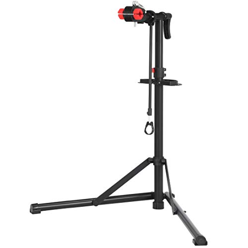 SONGMICS Bike Repair Stand, Heavy-Duty Bike Workstation, Sturdy, Black USBR07B