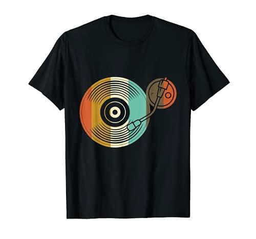 Interrupteur en vinyle - Platine vinyle rétro - DJ Vintage T-Shirt