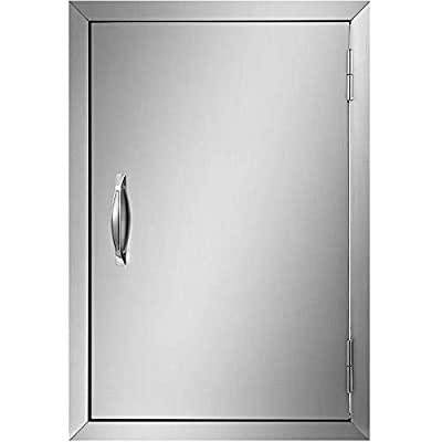 Mophorn BBQ Access Door 17Width x 24Height BBQ Island Door Brushed Stainless Steel Perfect for Outdoor Kitchen or BBQ Island