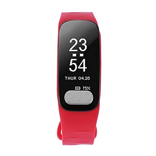 chebao, Reloj inteligente, relojes inteligentes, R11 Bluetooth 4.0 pulsera inteligente deportiva impermeable pulsera de frecuencia cardíaca (rojo)-149438.02