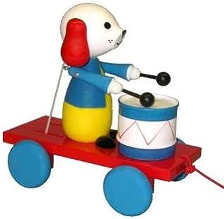ABA プルアロン ドッグ ミュージシャン カート ドラム付き (カラー)