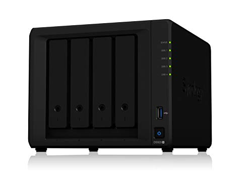 Synology NAS de 4 bahías DiskStation DS920+ (sin Disco), 4-Bay; 4GB DDR4