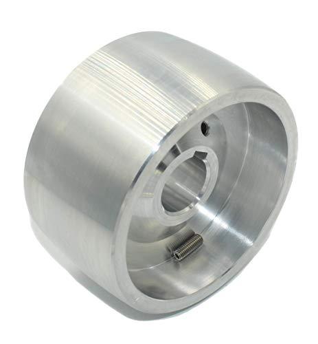(Drive 100-24) Riemenschleifer-Antriebsrad CNC-bearbeitetes Riemenschleifer-Antriebsrad für Messerschleifer 100 mm Durchmesser - 55 mm breit mit 24 mm Bohrung