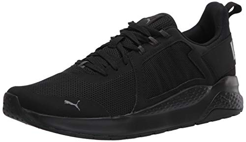 PUMA unisex adult Anzarun Sneaker, Puma Black-dark Shadow, 10 US