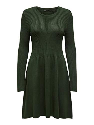 ONLY Damen ONLALMA L/S O-Neck Dress KNT NOOS Lässiges Kleid, Rosin, S