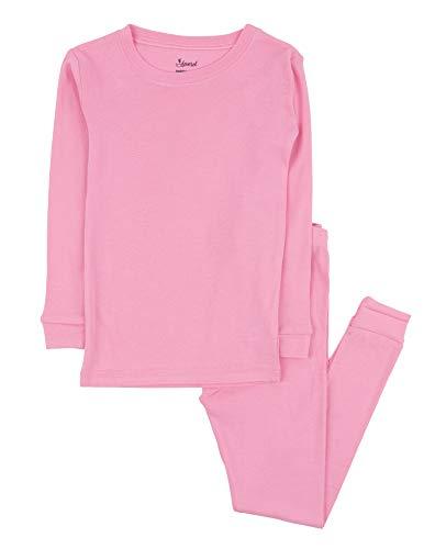 Leveret Kids Pajamas Boys & Girls Solid Light Pink 2 Piece Pajama Set 100% Cotton Size 12 Years