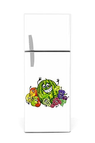 Kühlschrank Aufkleber 60 x 90 cm Obst Gesicht