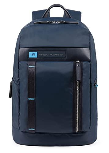 PIQUADRO Zaino Nylon rigenerato Porta Computer e Porta iPad Colore Blu - CA4545BIO/BLU