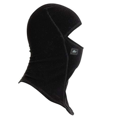 Turtle Fur Kids Micro Fur Fleece Ninja Balaclava Face Mask, Black - Large