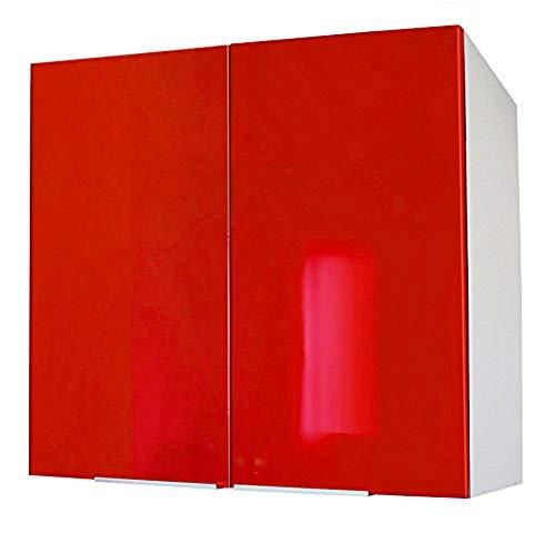 Berlioz Creations CP8HR Meuble Haut de Cuisine avec 2 Portes Rouge Haute Brillance 80 x 34 x 70 cm